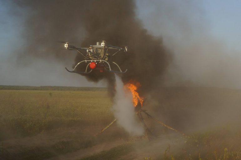 «Матрица технологий» продемонстрировала противопожарную версию гибридного беспилотника «Командор»
