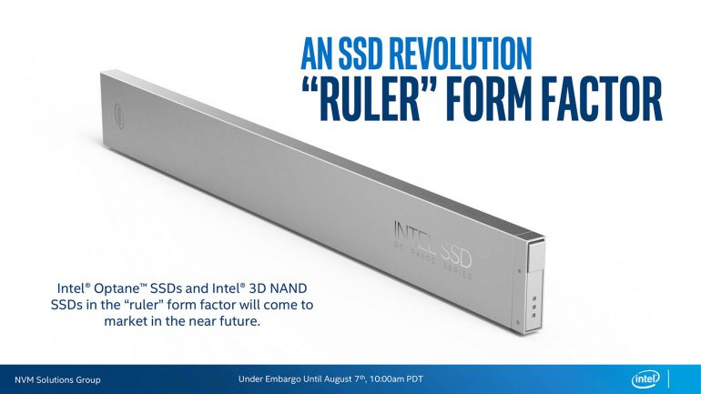 Intel представила SSD в новом форм-факторе Ruler (до 1 ПБ в одном 1U-сервере) и корпоративные накопители с двумя портами SATA