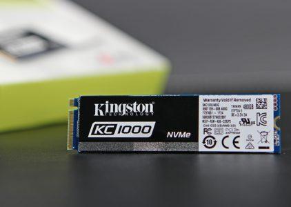 Обзор накопителя Kingston KC1000 NVMe M.2 480 ГБ