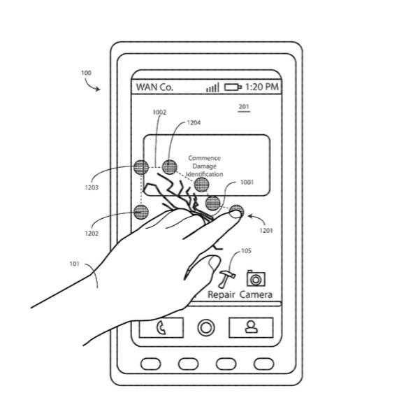 Motorola патентует самовосстанавливающийся дисплей для смартфонов