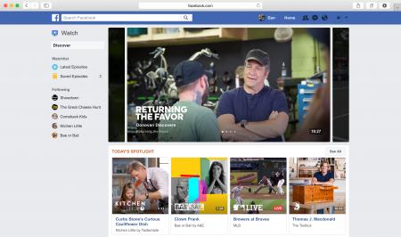 Facebook запускает похожий на YouTube видеосервис Watch, который должен помочь соцсети открыть двери на рынок телевизионной рекламы