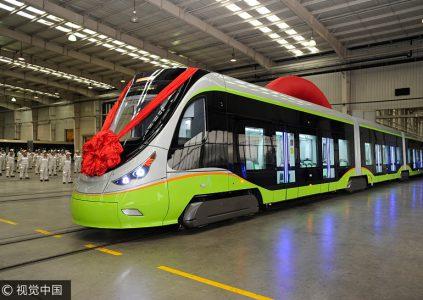 В Китае представлен первый в мире беспилотный трамвай
