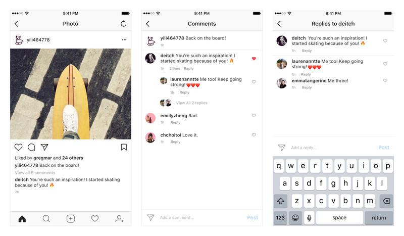 Instagram вводит ветвление в комментариях
