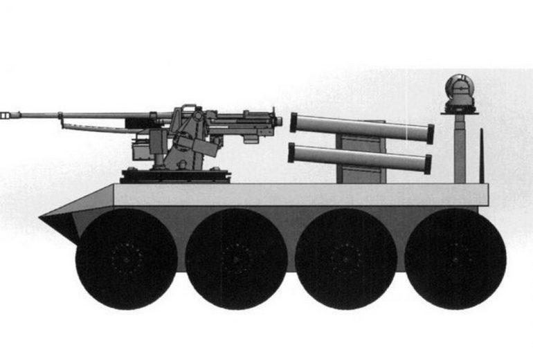 Украинец запатентовал автономного колесного робота, который подозрительно похож на беспилотный БТР «Фантом-2»