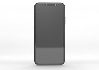 Фото лицевой панели iPhone 8 свидетельствует о наличии сканера радужной оболочки глаза и отсутствии Touch ID