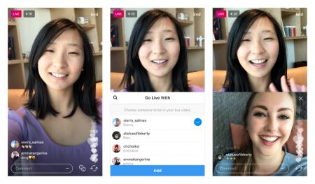 Instagram начал тестирование совместных прямых трансляций
