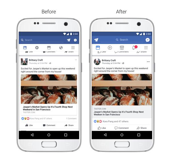 Facebook представила новый дизайн мобильного приложения с круглыми аватарками и более чистым интерфейсом (без синих «колонтитулов»)