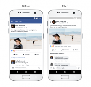 """Facebook представила новый дизайн мобильного приложения с круглыми аватарками и более чистым интерфейсом (без синих """"колонтитулов"""")"""