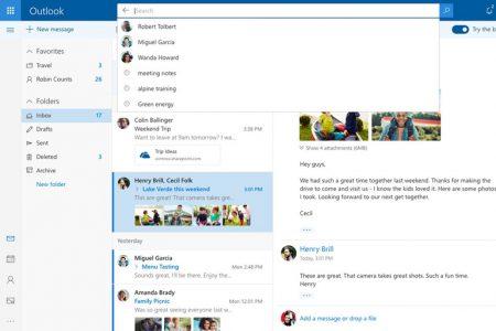 Microsoft тестирует обновлённую версию Outlook.com с новым дизайном и дополнительными функциями