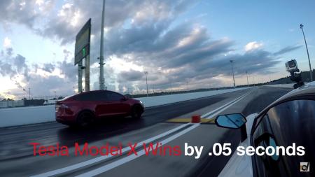 Электромобиль Tesla Model X поставил рекорд для серийных кроссоверов на дистанции четверть мили, обогнав Lamborghini Aventador [видео]