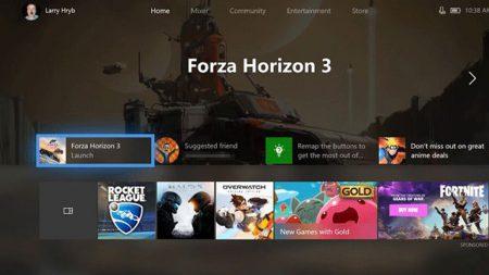 Microsoft тестирует обновлённый дизайн главной панели Xbox One на базе концепции Fluent Design