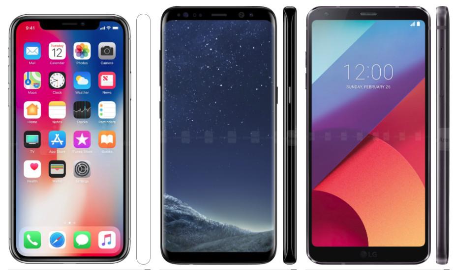 Сравнение характеристик iPhone X, Galaxy S8, LG G6, Mi Mix 2, Essentia