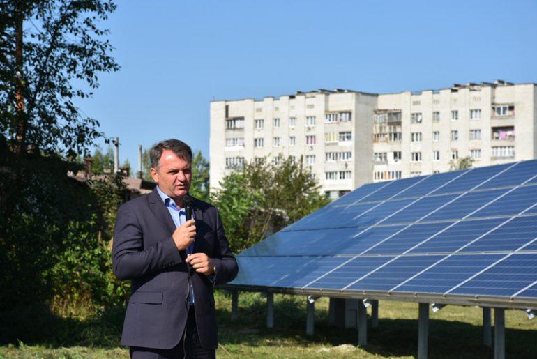 Во Львовской области открыли самую мощную в Украине кровельную солнечную электростанцию