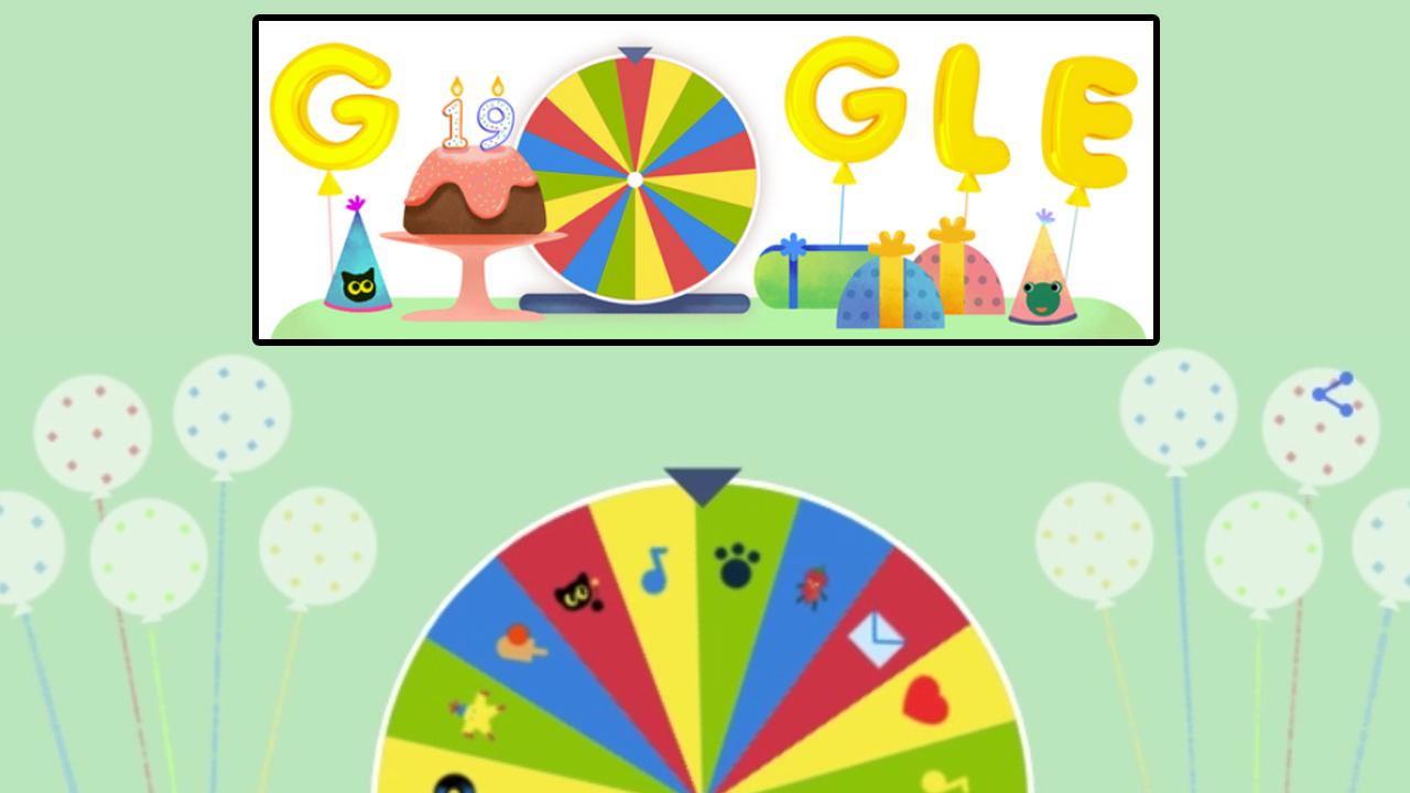 Google отмечает 19-летие: как играть вего праздничную рулетку
