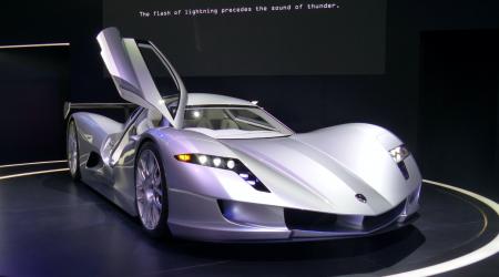 «2 секунды до 100 км/ч, мощность 430 л.с., вес 850 кг»: Самый быстрый электромобиль в мире Aspark Owl приехал на Франкфуртское автошоу