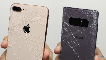 Новые iPhone 8 испытали в тестах на падение (дроп-тест) и сравнили их по прочности с Apple iPhone 7 и Samsung Galaxy Note 8