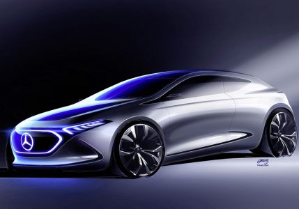 Опубликовано официальное изображение компактного электрического хэтчбека Mercedes EQ A, который покажут на Франкфуртском автошоу