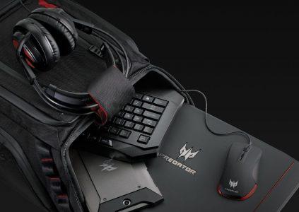 В Украине начались продажи геймерских аксессуаров Acer Predator, в магазинах уже доступны фирменные мышь, гарнитура и рюкзак