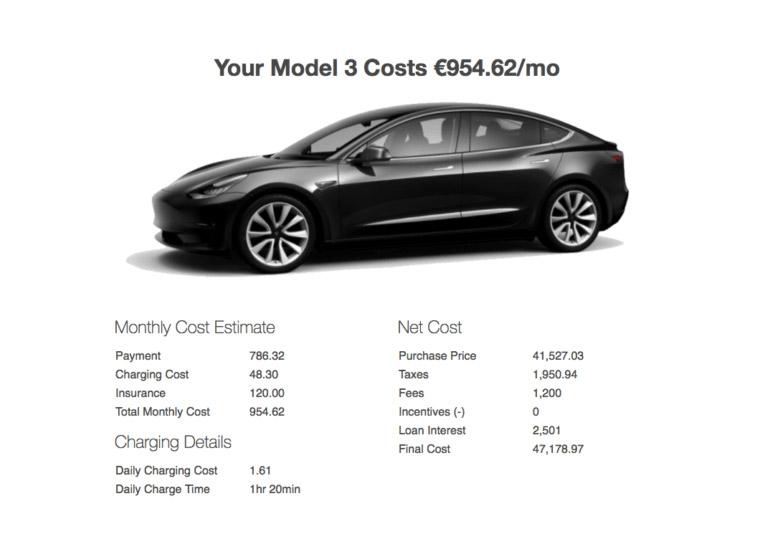 Tesla Model 3 получит пневмоподвеску идвухмоторную версию