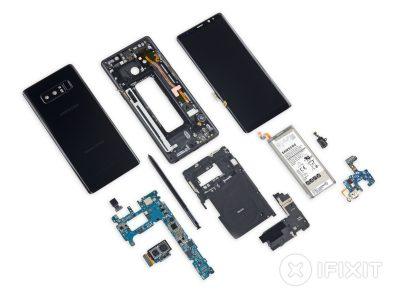 Смартфон Samsung Galaxy Note8 заработал у iFixit столько же баллов, сколько и Galaxy S8/S8+
