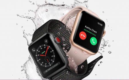 Запас автономности Apple Watch Series 3 в режиме разговора в сети LTE – чуть больше одного часа