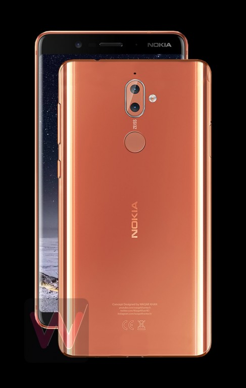 Рендеры смартфона Nokia 9 указывают на безрамочный дизайн и двойную камеру