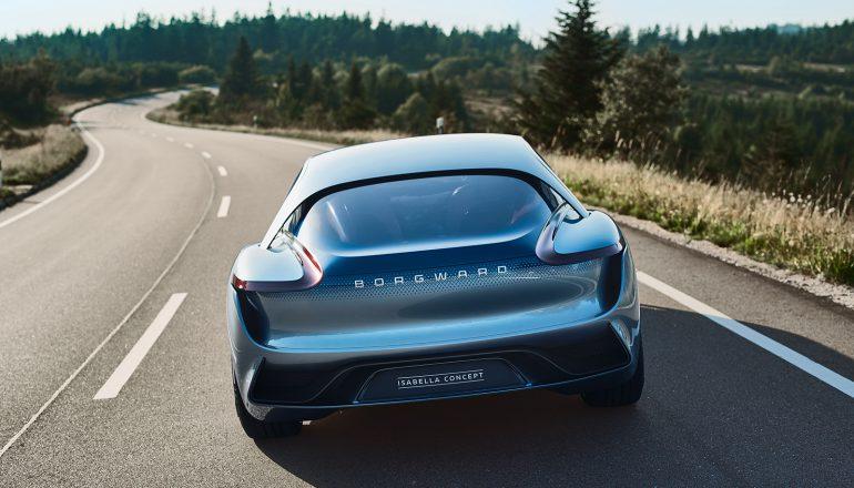 Borgward Isabella — концепт премиального электромобиля с футуристичным дизайном, мощностью 300 л.с. и запасом хода 500 км
