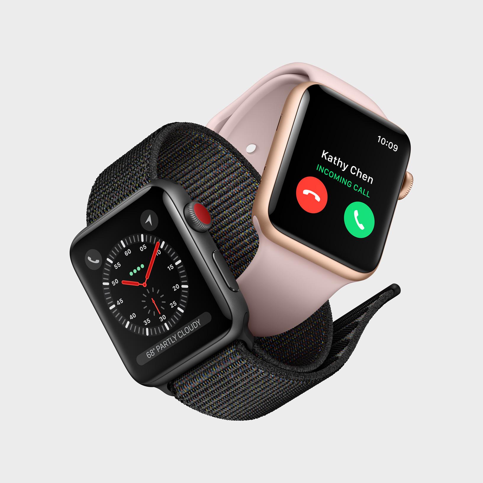 Представлены умные часы Apple Watch Series 3 со встроенным модемом ... 34b6e3938e2a2