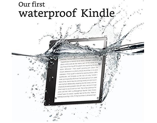 Новый ридер Amazon Kindle Oasis получил 7-дюймовый дисплей, до 32 ГБ памяти и защиту от воды