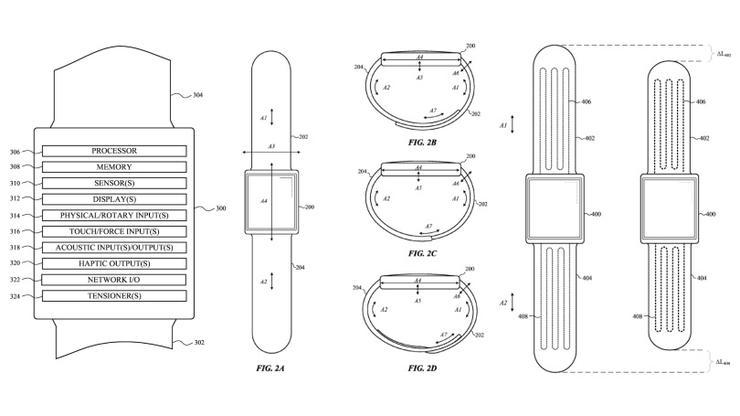 Apple запатентовала самозатягивающиеся ремешки для умных часов