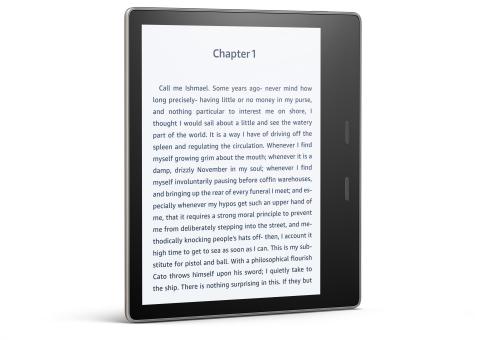 Amazon представила ридер Kindle Oasis сзащитой отводы