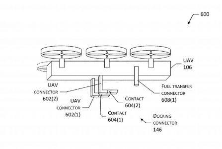 Amazon запатентовала беспилотный летающий дрон, предназначенный для подзарядки электромобилей на ходу