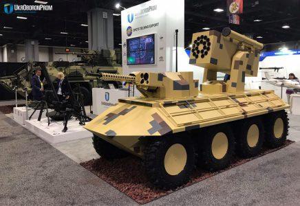 «Укроборонпром» представил беспилотный БТР «Фантом-2» на выставке вооружения AUSA-2017 в США