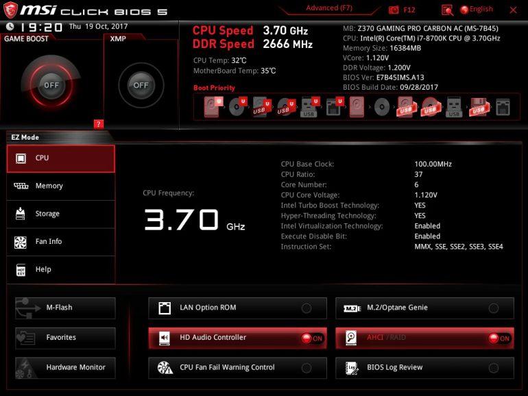 Обзор материнской платы MSI Z370 GAMING PRO CARBON AC