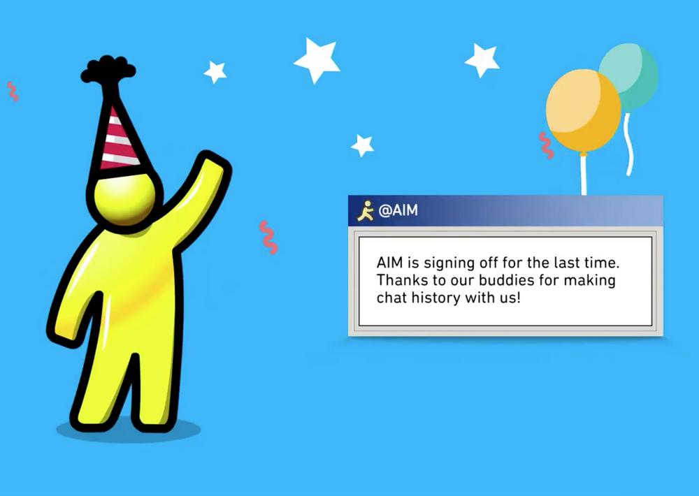 AOL отключает сервис AIM после 20 лет работы