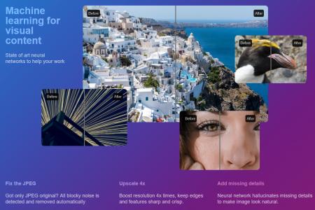 Украинский стартап Let's Enhance запустил онлайн-сервис letsenhance.io, улучшающий качество фотографий с помощью искусственного интеллекта