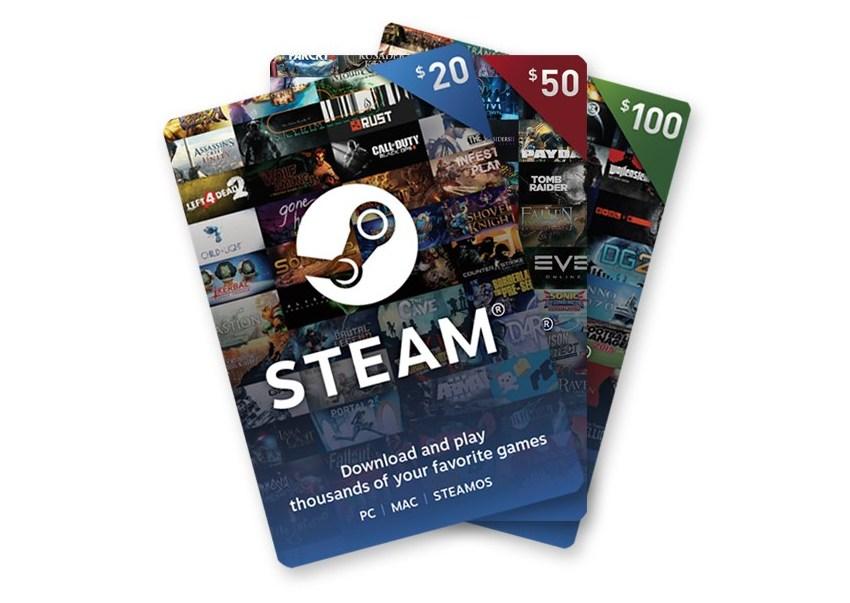 ВSteam сейчас можно приобрести электронные подарочные карты