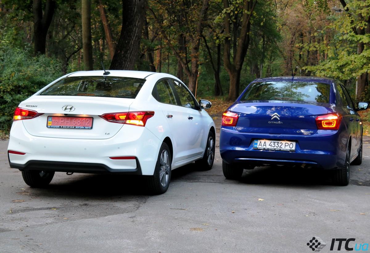 Дуель: Hyundai Accent і Citroen C-Elysee (+ окупність дизельного Peugeot 301)