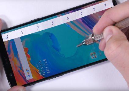 Смартфон OnePlus 5T достаточно неплохо прошёл испытания на прочность