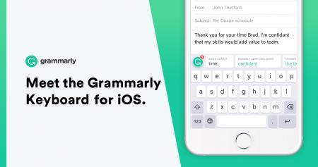 Grammarly Keyboard — клавиатура для iOS с проверкой правописания и грамматики на английском языке