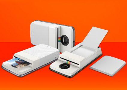 Новый модуль Motorola Mod трансформирует смартфон в фотопринтер Polaroid