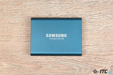 Обзор портативного SSD накопителя Samsung T5