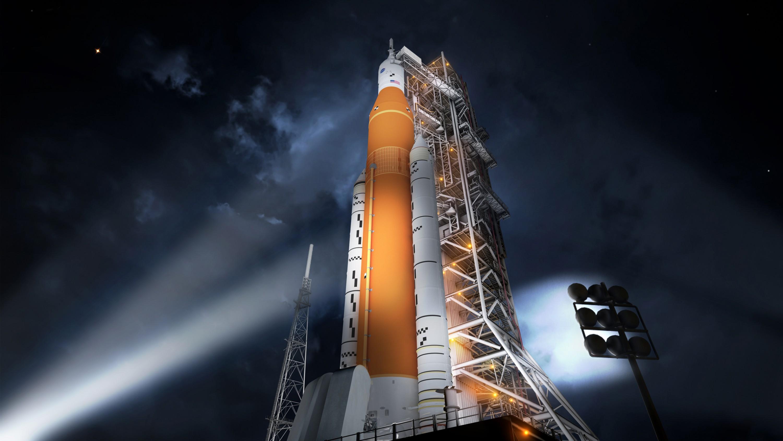 Запуск американской сверхтяжелой ракеты Space Launch System показали навидео