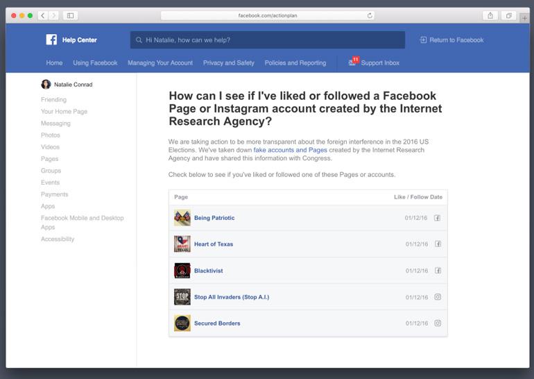 Фейсбук: юзеры узнают оподписке на«российскую пропаганду»