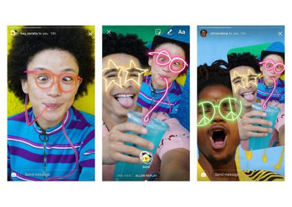 Instagram теперь позволяет наносить стикеры, текст и рисунки на фотографии друзей
