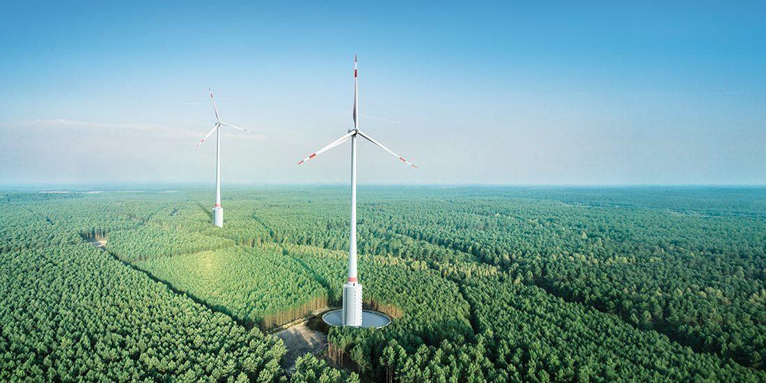 ВГермании построили самую высокую ветряную электростанцию вмире