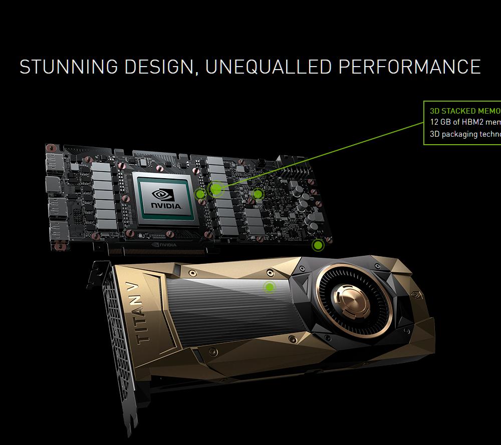 Обновлено: NVIDIA представила видеокарту TITAN V на новой архитектуре Volta: 5120 ядер CUDA, 12 ГБ памяти HBM2 и TDP 250 Вт – «всего» $3000
