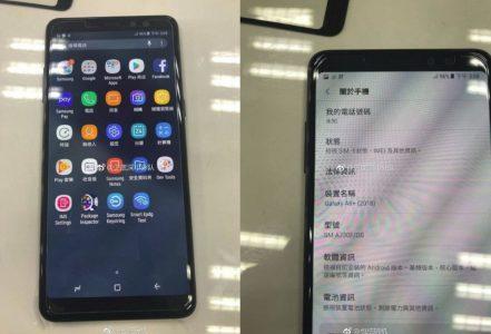 В сети появились «живые» фотографии смартфона Samsung Galaxy A8+ (2018) с удлиненным экраном Infinity Display