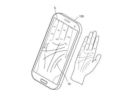 Samsung запатентовала новый способ биометрической идентификации – сканирование ладони для напоминания забытого пароля