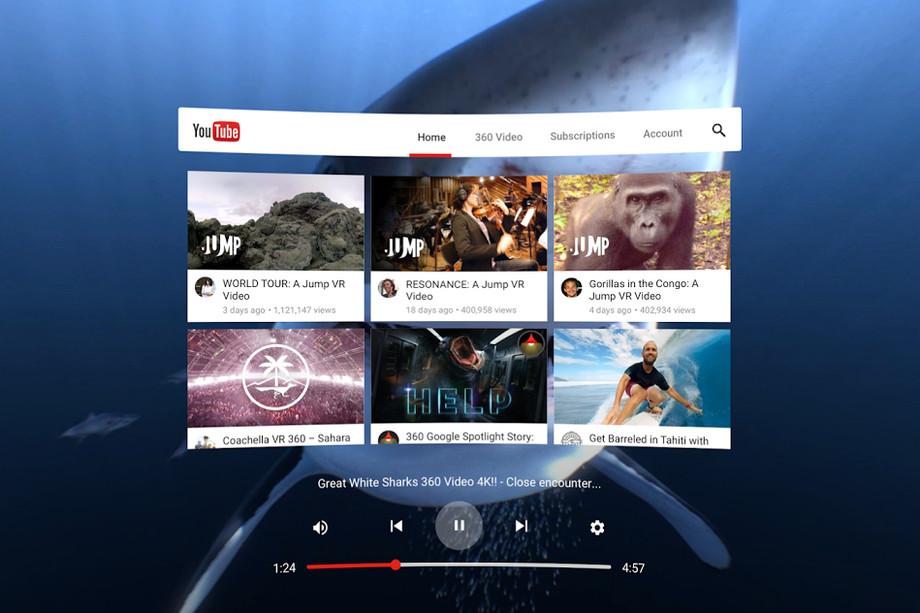 Google выпустила вSteam приложение YouTubeVR